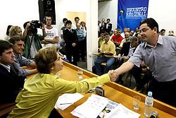 A candidata ao governo do Estado do RS Yeda Crusius recebeu o apoio cadeia produtiva da agricultura gaúcha. FOTO: Jefferson Bernardes/Preview.com