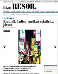 DN.se newspaper; Neon lights in Busan Korea