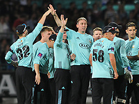 Cricket - 2017 Natwest T20 Blast - Quarter-Final: Surrey vs. Birmingham Bears<br /> <br /> Rikki Clarke of Surrey,celebrates his wicket of Ed Pollack at The Oval.<br /> <br /> COLORSPORT/ANDREW COWIE