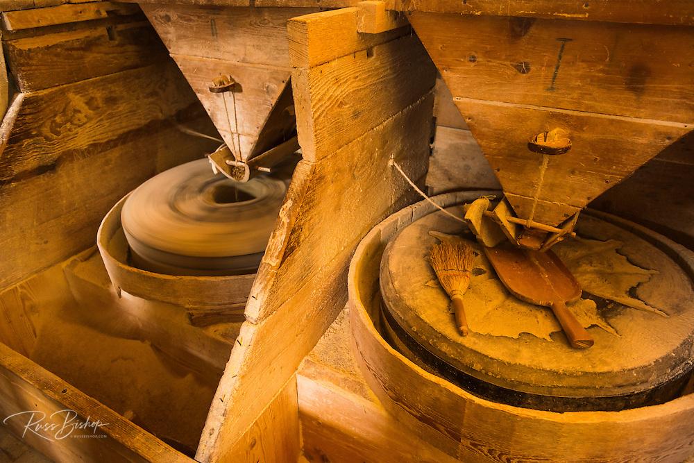 Mill stone at Vodenica water mill, Korana Village, Plitvice Lakes National Park, Croatia