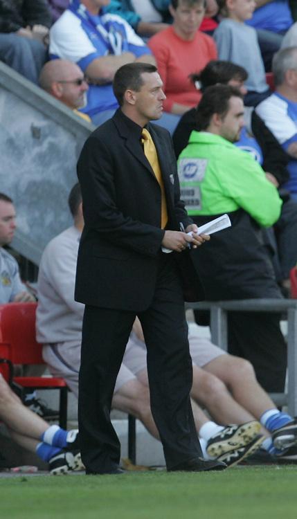 Photo: Andi Thompson.<br />Wigan Athletic v Watford. The Barclays Premiership. 23/09/2006.<br />Watford Manager Adrian Boothroyd.