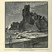 THE CASTLE OF CAESAREA. A mediieval structure, with marble columns built transversely into the walls. In the interior there are several vaulted chambers. It stands on the ancient mole on the south side of the harbour. Wood engraving of from 'Picturesque Palestine, Sinai and Egypt' by Wilson, Charles William, Sir, 1836-1905; Lane-Poole, Stanley, 1854-1931 Volume 3. Published in by J. S. Virtue and Co 1883