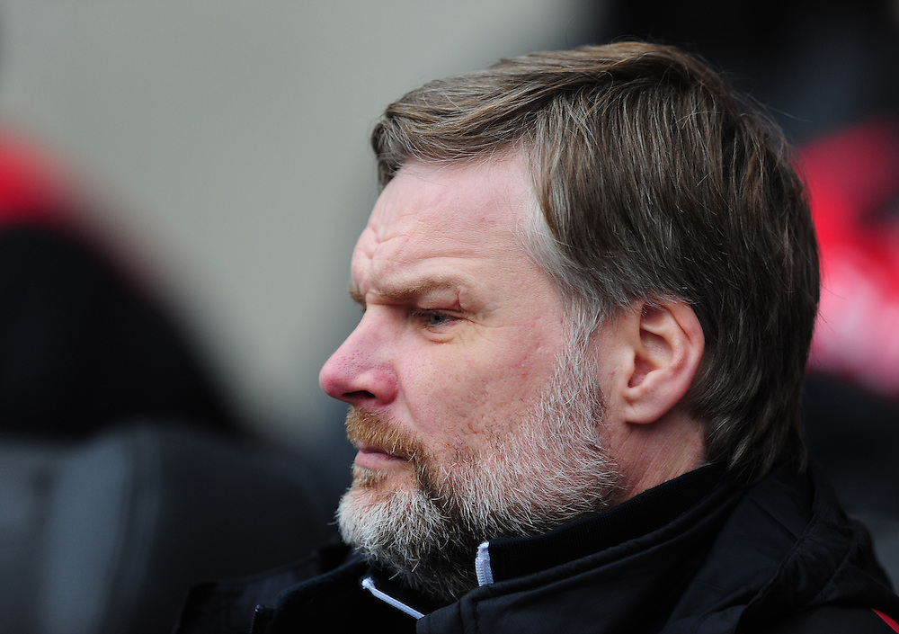 Fleetwood Town manager Steven Pressley <br /> <br /> Photographer Chris Vaughan/CameraSport<br /> <br /> Football - The Football League Sky Bet League One - Coventry City v Fleetwood Town - Saturday 27th February 2016 - Ricoh Stadium - Coventry   <br /> <br /> © CameraSport - 43 Linden Ave. Countesthorpe. Leicester. England. LE8 5PG - Tel: +44 (0) 116 277 4147 - admin@camerasport.com - www.camerasport.com