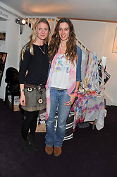Left to right, WILLOW CROSSLEY and SOPHIA ROGGE at the Delicious Glamourous Girls Christmas Bazaar held at The Little Black Gallery & 11 Park Walk, Park Walk, London on 27th November 2012.