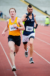 Sheffield Half Marathon runners race for the Finish Line Sunday Morning.Sprint Finish..12 May 2013.Image © Paul David Drabble