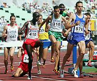 Friidrett<br /> VM 2007 <br /> Osaka - Japan<br /> 25.08.2007<br /> Foto: Gepa/Digitalsport<br /> NORWAY ONLY<br /> <br /> 3000 meter hinder<br /> Bild zeigt von links Tom Brooks (USA), Guenther Weidlinger (AUT), Tareq Mubarak Taher (BRN), Rabia Makhloufi (ALG) und Bouabdallah Tahri (FRA).