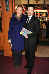 TOM CHAMBERS and CLARE HARDING at the gala opening night of Cirque du Soleil's Varekai at the Royal Albert Hall, London on 5th January 2010.