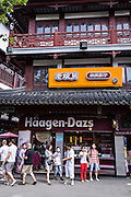 A Haagen-Dazs ice cream shop in Yu Gardens bazaar Shanghai, China