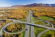 Aerial of interchange in Anchorage