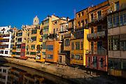 Houses on the River Onyar, Girona, Catalonia, Spain