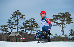 March 17, 2018 - Pyeongchang, South Korea - Sean Halsted of the US during the 7.5km Sitting Cross Country event Saturday, March 17, 2018 at the Pyeongchang Winter Paralympic Games. Photo by Mark Reis (Credit Image: © Mark Reis via ZUMA Wire)