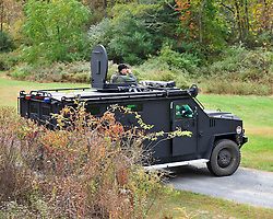 Police continue to search for fugitive Eric Matthew Frein on Oct. 10, 2014, near Canadensis, PA. Frein is accused of shooting two Pennsylvania State Troopers fatally wounding one 28 days ago. (Chris Post | lehighvalleylive.com)