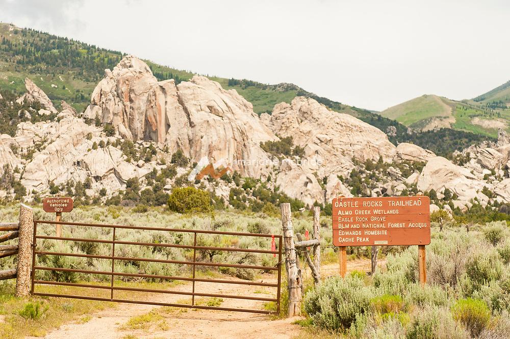 City of Rocks National Preserve, Castle Rock. Idaho.
