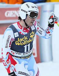 21.12.2013, Saslong, Groeden, ITA, FIS Ski Weltcup, Groeden, Abfahrt, Herren, im Bild Johan Clarey (FRA, 3. Platz) // 3rd place Johan Clarey of France reacts in the finish Area during mens Downhill of the Groeden FIS Ski Alpine World Cup at the Saslong Course in Gardena, Italy on 2012/12/21. EXPA Pictures © 2013, PhotoCredit: EXPA/ Erich Spiess
