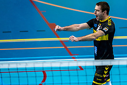 Mats Kruiswijk of Dynamo in action during the league match between Draisma Dynamo vs. Amysoft Lycurgus on March 13, 2021 in Apeldoorn.