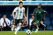 Argentina defender Nicolas Tagliafico and Nigeria forwarder Victor Moses (R) during the 2018 FIFA World Cup Russia, Group D football match between Nigeria and Argentina on June 26, 2018 at Saint Petersburg Stadium in Saint Petersburg, Russia - Photo Stanley Gontha / Pro Shots / ProSportsImages / DPPI