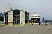 Cruise ship terminal building Skolten, Vagen harbour, BergenBergen, Norway