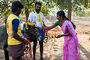 In Palamadu the temple bull is taken around the village the day before the Jallikattu to be blessed.