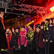 Sadiq Khan is a Mayor of London joins the ceremony to light a sacred Menorah to celebrate Chanukah (Hanukkah), the eight-day Jewish Festival in Trafalgar Square, 5th December 2018, London, UK.