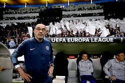 Chelsea manager Maurizio Sarri during the UEFA Europa League Semi final, first leg match at The Frankfurt Stadion, Frankfurt.