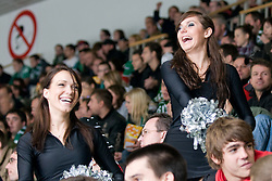 Ice Ladies girls during ice-hockey match between HDD Tilia Olimpija and EHC Liwest Black Wings Linz in 19th Round of EBEL league, on November 7, 2010 at Hala Tivoli, Ljubljana, Slovenia. (Photo By Matic Klansek Velej / Sportida.com)
