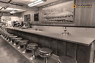 Diner at the Historic Lodge in Bassett, Nebraska, USA