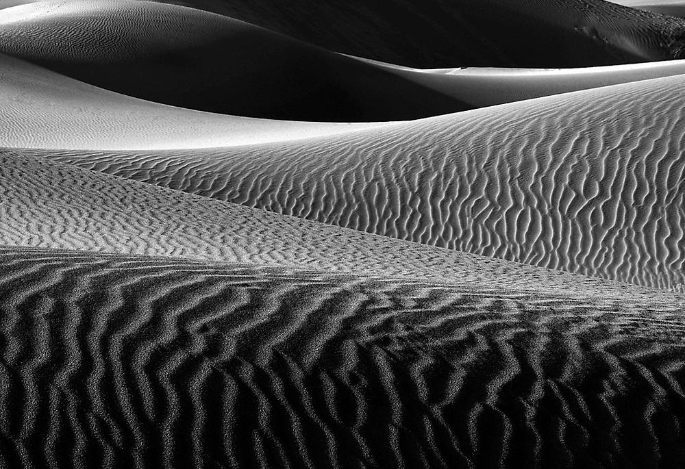 Death Valley National Park dune patterns.