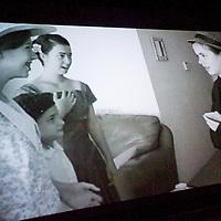 111012       Cable Hoover<br /> <br /> Sussanah Lisko, left, Naomi Lisko, Clare Iralu and Julian Iralu preform in a film by Annemarie Lisko and Caroline Lisko during the 2nd Annual Teen Film Festival at El Morro Theatre Saturday.