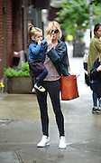New York, New York, U.S. - <br /> <br /> Sienna Miller With Daughter In New York<br /> <br /> Actress SIENNA MILLER and daughter MARLOWE STURRIDGE try to avoid photogs in Manhattan<br /> ©Exclusivepix Media
