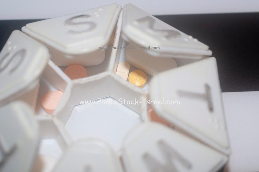 Open Full Daily Pill Box