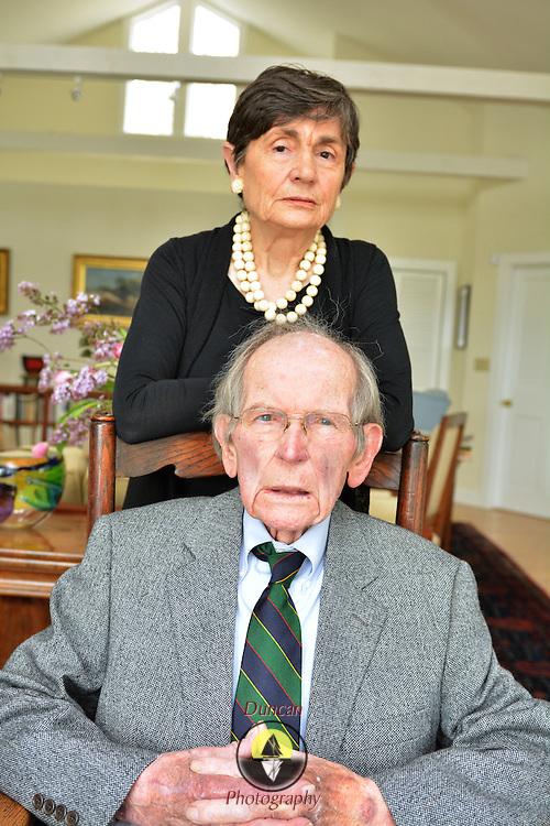 PHIPPSBURG, Maine --  4/28/15 -- Dr. Paul and Mary Doolan at their home. Photo © Roger S. Duncan 2015. Permission granted for all uses to Dr. Paul and Mary Doolan and their assignees. Resale not permitted without express written consent.
