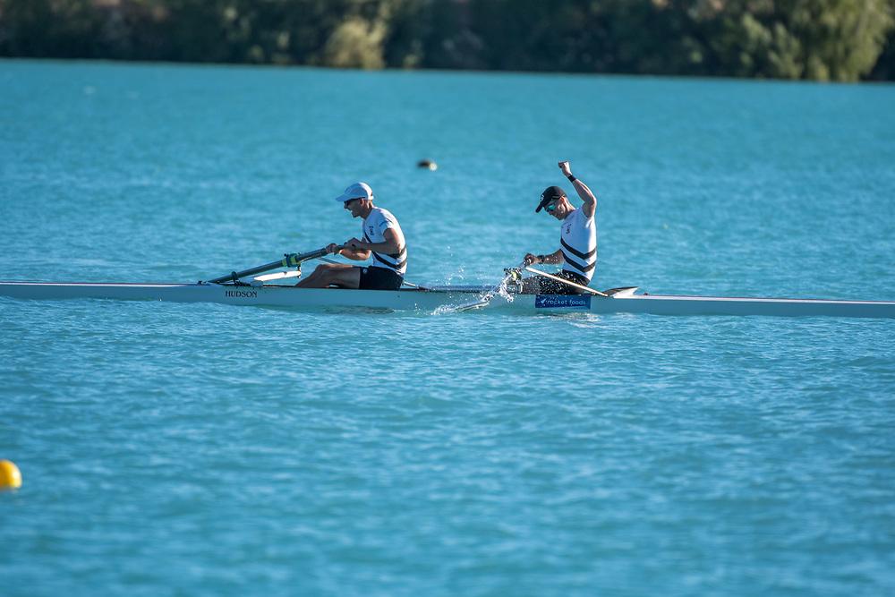 Crews competing at the NZ Champs on Friday 22 February 2019, Lake Ruataniwha, Twizel.<br /> <br /> © Copyright photo Steve McArthur / @RowingCelebration   www.rowingcelebration.com