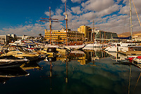 Marina and hotels along the lagoon, Eilat, Israel.