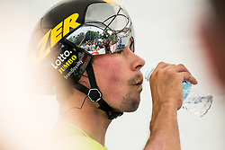 Primoz Roglic of Team Lotto NL Jumbo during 5th Time Trial Stage of 25th Tour de Slovenie 2018 cycling race between Trebnje and Novo mesto (25,5 km), on June 17, 2018 in  Slovenia. Photo by Vid Ponikvar / Sportida