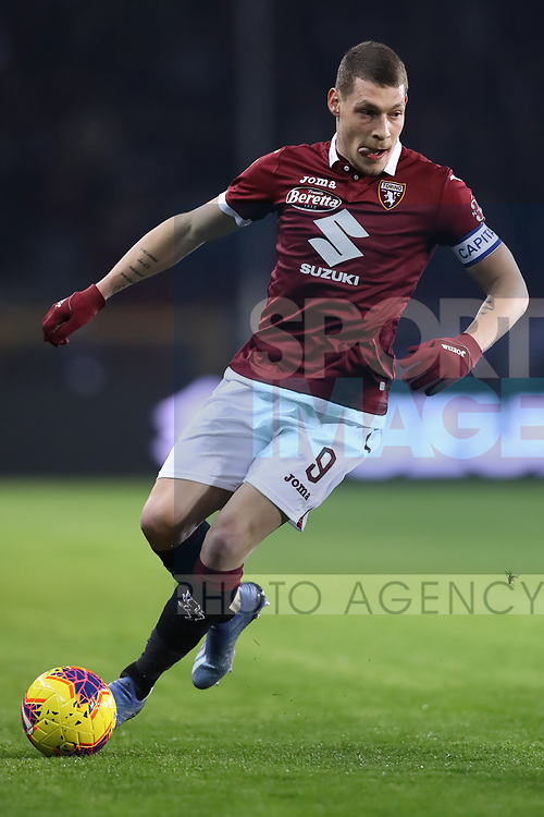 Andrea Belotti of Torino FC during the Serie A match at Stadio Grande Torino, Turin. Picture date: 8th February 2020. Picture credit should read: Jonathan Moscrop/Sportimage