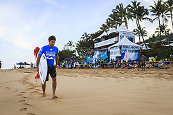 December 11, 2017 - Haleiwa, Hawaii, U.S. - Jeremy Flores (FRA)  before the start of  Round One at the Billabong Pipe Masters 2017 in Pipe  Oahu, Hawaii , USA..Billabong Pipe Masters 2017. (WSL via ZUMA Wire/ZUMAPRESS.com)