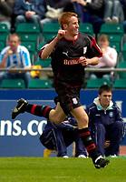 Photo: Alan Crowhurst.<br />Brighton & Hove Albion v Stoke City. Coca Cola Championship. 30/04/2006. Adam Rooney celebrates his first for Stoke.