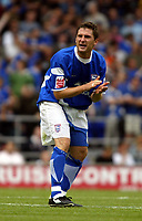 Fotball<br /> Foto: SBI/Digitalsport<br /> NORWAY ONLY<br /> <br /> Ipswich Town v Cardiff City<br /> Coca Cola Championship.<br /> 06/08/2005.<br /> <br /> Nicky Forster the Ipswich match winner urges his team mates on