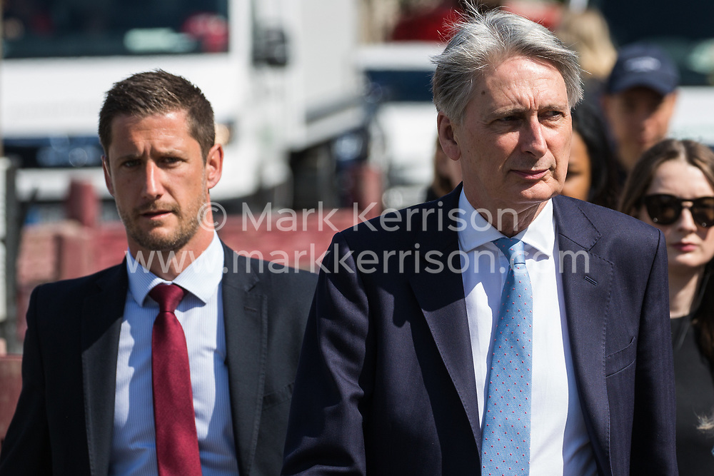 London, UK. 2 July, 2019. Chancellor of the Exchequer Philip Hammond arrives at the House of Commons for Treasury Questions. The session is expected to be lively following the Chancellor's criticism of both Conservative leadership candidates' spending plans yesterday during a BBC interview with Laura Kuenssberg.