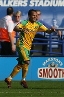 Photo: Pete Lorence.<br />Leicester City v Norwich City. Coca Cola Championship. 14/04/2007.<br />Robert Earnshaw celebrates his 2nd half goal.