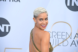 January 27, 2019 - Los Angeles, California, U.S - SIBLEY SCOLES during silver carpet arrivals for the 25th Annual Screen Actors Guild Awards, held at The Shrine Expo Hall. (Credit Image: © Kevin Sullivan via ZUMA Wire)