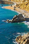 Rocks and beach, Julia Pfeiffer Burns State Park, Big Sur, California