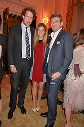 Left to right, FREDDIE HESKETH and The HON.PEREGRINE HOOD and his wife SERENA at the Tatler Best of British party in association with Jaegar held at The Ritz, Piccadilly, London on 28th April 2015.