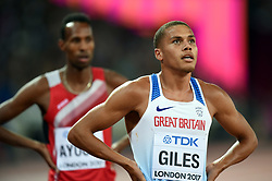 Elliot Giles of Great Britain looks on - Mandatory byline: Patrick Khachfe/JMP - 07966 386802 - 06/08/2017 - ATHLETICS - London Stadium - London, England - Men's 800m Semi Final - IAAF World Championships