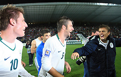 Valter Birsa (10) after the fourth round qualification game of 2010 FIFA WORLD CUP SOUTH AFRICA in Group 3 between Slovenia and Northern Ireland at Stadion Ljudski vrt, on October 11, 2008, in Maribor, Slovenia.  (Photo by Vid Ponikvar / Sportal Images)
