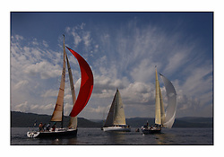 Bell Lawrie Series Tarbert Loch Fyne - Yachting.The third day's inshore races, which transpired to be the last..IRL8833, Dark Angel in Class one approaches the leeward mark, with Blue Magic GBR49R and Playing Ftse GBR603R...