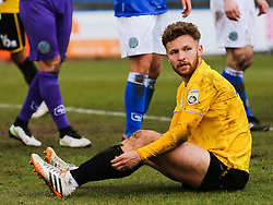 Bristol Rovers' Matt Taylor reacts after missing a chance - Photo mandatory by-line: Neil Brookman/JMP - Mobile: 07966 386802 - 28/03/2015 - SPORT - Football - Macclesfield - Moss Rose - Macclesfield Town v Bristol Rovers - Vanarama Football Conference