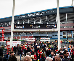 A general view of Principality Stadium, home of Wales<br /> <br /> Photographer Simon King/Replay Images<br /> <br /> Six Nations Round 3 - Wales v England - Saturday 23rd February 2019 - Principality Stadium - Cardiff<br /> <br /> World Copyright © Replay Images . All rights reserved. info@replayimages.co.uk - http://replayimages.co.uk