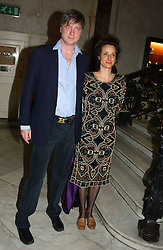 The MARQUESS & MARCHIONESS OF WORCESTER at a party to celebrate the publication of Andrew Robert's new book 'Waterloo: Napoleon's Last Gamble' and the launch of the paperback version of Leonie Fried's book 'Catherine de Medici' held at the English-Speaking Union, Dartmouth House, 37 Charles Street, London W1 on 8th February 2005.<br />