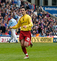 Photo: Daniel Hambury.<br />Crystal Palace v Watford. Coca Cola Championship. Play off Semi-Final, First Leg. 06/05/2006.<br />Watford's Matthew Spring celebrates scoring the third goal.